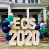 Alpha Lit lighted number display for Episcopal Collegiate School high school graduation with balloon arch installation created by Just Peachy in Little Rock, Arkansas.