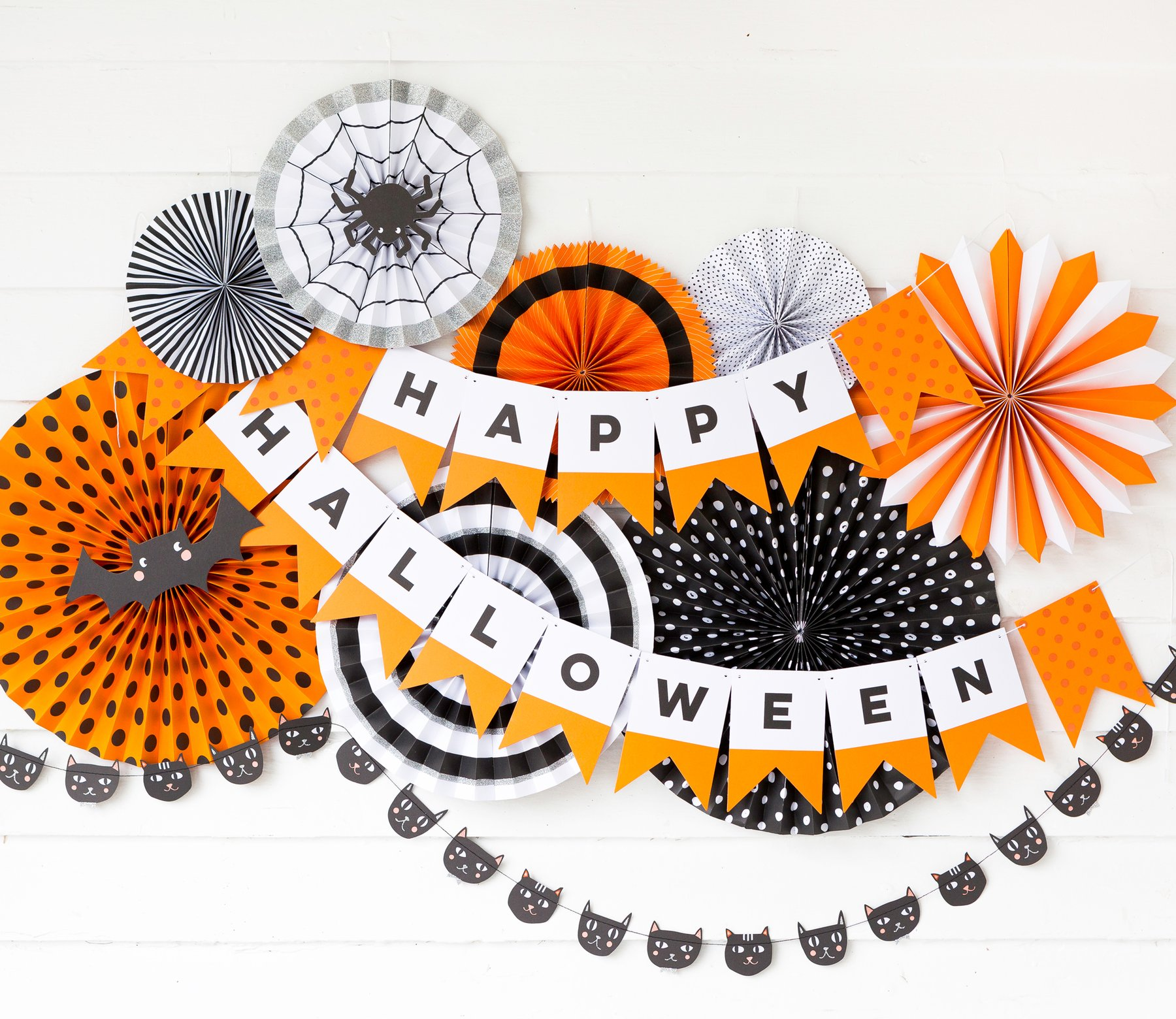 Orange, black and white My Mind's Eye - Halloween Happy Halloween Banner from Just Peachy in Little Rock, Arkansas.